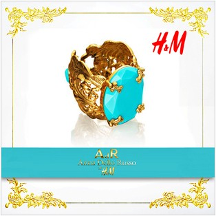 "Браслет Anna Dello Russo for H&M  ""turquoise"""