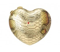 Клатч Love MOSCHINO Heart Clutch gold
