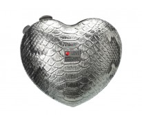Клатч Love MOSCHINO Heart Clutch silver