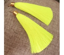 "Серьги-кисти ""Brush Neon Yellow"""