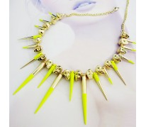 Колье Metal Spikes for ASOS yellow