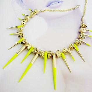 Колье Metal Spikes for ASOS yellow
