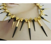 Колье Metal Spikes for ASOS black