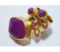 Кольцо Coral YSL red-violet