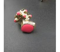 Кольцо Coral YSL pink
