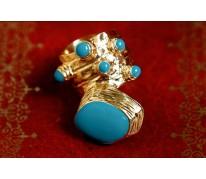 Кольцо Coral YSL blu