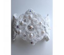 """Свадебный браслет """"Pearls & Crystals"""""""